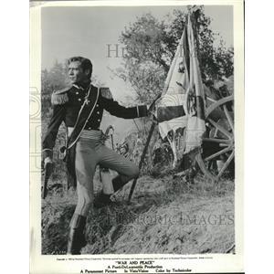 1956 Press Photo Mel Ferrer Andrey Denham Russia Troop - RRT61237
