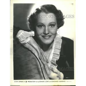 1936 Press Photo Constance Cummings Seven Sinners - RRT76385