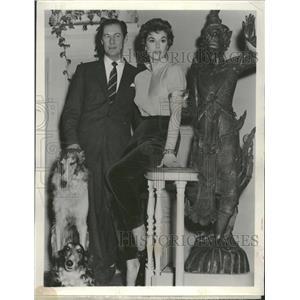 1955 Press Photo Actors Rex Harrison And Kay Kendall - RRT50087
