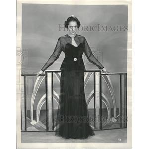 1934 Press Photo Harriet De Busman Agfa Test Winner - RRT50681