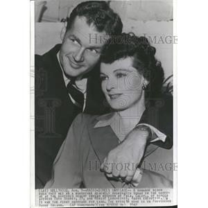 1942 Press Photo Ruth Hussey Weds Robert Longnecker - RRT43171