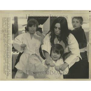 1973 Press Photo mounc worfel school biran mccune