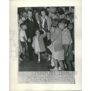 1949 Press Photo Heddy Lamarr & Kids Denise Tony - RRT70371