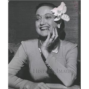 1959 Press Photo Dorothy Lamour Wearing Orchid Denver - RRT99431