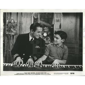 1956 Press Photo Tyrone Power (Actor) - RRT27909