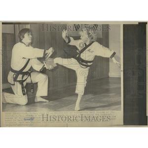 1976 Press Photo Matt Hodges 6yr Karate Black Belt WV - RRT24059