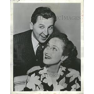1952 Press Photo Dorothy Lamour Eddie Bracken America - RRT99831