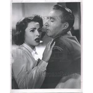 1954 Press Photo Bing Crosby Nicole Maurey - RRT51645