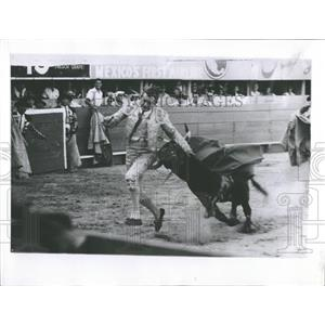 1960 Press Photo Sidney Franklin Gets Tossed ...