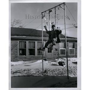1957 Press Photo Irvin Romig The Clown