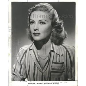 1946 Press Photo Madelienne Carroll former British actr - RRT64723