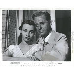 1956 Press Photo Claire Bloom and Claude Dauphin,actors - RRT72435