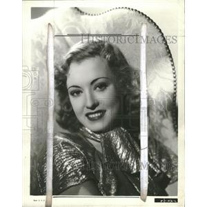 1937 Press Photo Singer Actress June Gale - RRT67915
