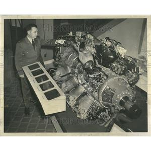 1953 Press Photo Air Force Exhibit Sherman Hotel - RRT23371