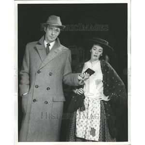 1958 Press Photo Anne Rogers Michael Evans My Fair Lady - RRT02897