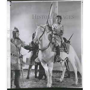 1956 Press Photo Joan Of Arc Heddy Lammar Story Mankind - RRT70357