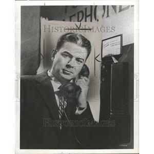 1953 Press Photo Actor Arthur Franz On Phone Promo - RRT07261