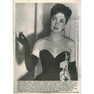 1952 Press Photo Actress Gina Lollobrigida Wins Suit - RRT50029
