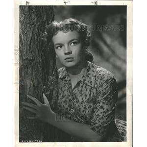 "Press Photo Actress Joan Evans ""Cinderella Girl"" - RRT63871"