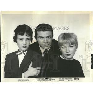 1959 Press Photo Franciosa stars with MacLaine & Jones - RRT56187