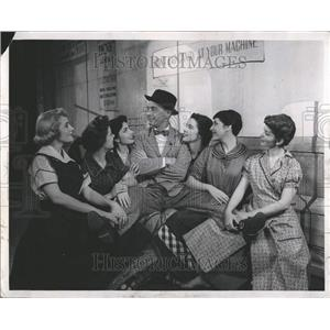 1955 Press Photo The Pajama Game,Buster West w/ 6-girls - RRT32113