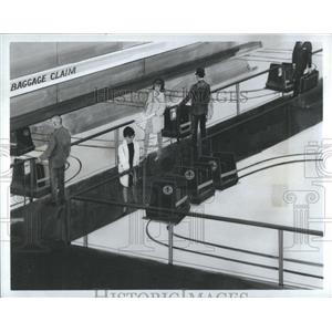 1967 Press Photo Telecar Experimental Baggage Drawing - RRS84067
