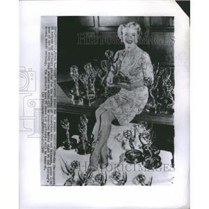 1955 Press Photo Kay Christopher TV Actress Awards - RRS49635
