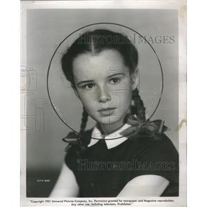 1951 Press Photo Gigi Perreau Child Actress - RRS39535