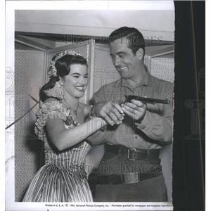 1954 Press Photo Christiane Martel Actress Miss Univers - RRS56419