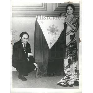 1935 Press Photo Ms. Placida De Cano Philippine flag - RRS30825