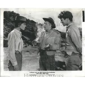 1958 Press Photo Chill Wills Diane Varse Hell Bent Kid - RRS95155