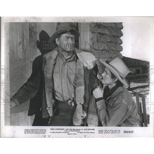 1950 Press Photo John Barrymore Jr Chill Wills Film - RRS95151