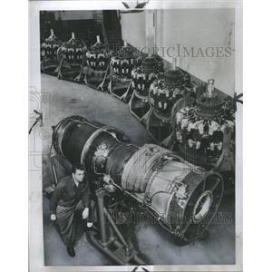 1954 Press Photo The J-57 turbojet - RRS31287