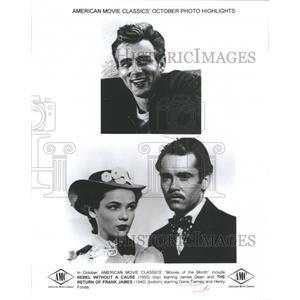 2000 Press Photo James Dean Gene Tierney Henry Fonda - RRS39377
