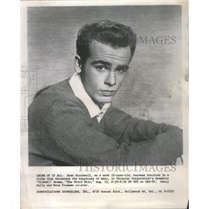 1957 Press Photo Dean Stockewell Chrysler Corporation - RRS29797