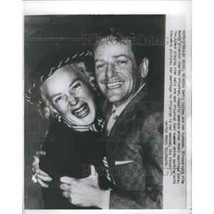 1952 Press Photo Betty Hutton Charles O'Curran Wedding - RRS62325