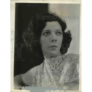 "1934 Press Photo Vivien Ruth in a promotional poster for ""Happy Wonder Bakers"""