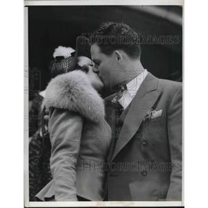 1940 Press Photo Cubs first baseman Rip Russell weds Lois Chamberlain, Santa Ana