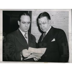 1945 Press Photo Luke Sewall of St. Louis Browns, Ed Dyer of St. Louis Cardinals