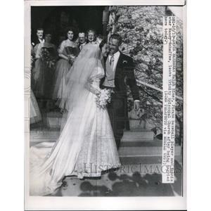 1951 Press Photo Ralph Kiner of Pirates and Tennis Star Nancy Schaffee Marry