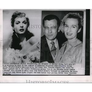 1953 Press Photo Marquess of Milford Haven Leaves Wife for Actress Eva Bartok