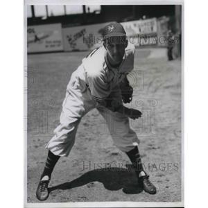 1947 Press Photo New York Giants Pitcher Larry Jansen Won Against Cardinals