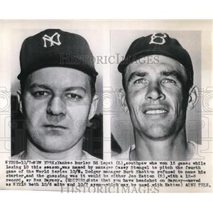 1949 Press Photo Yankees Ed Lopat Burt shotton - nes00450