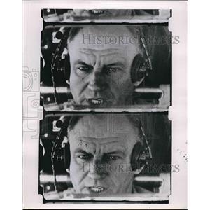 1955 Press Photo Camera's eye view of pilot's eyes to study reaction times