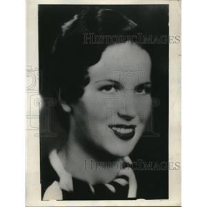 1933 Press Photo Actress Mamie Harrison Marries John Hearne - neb48436