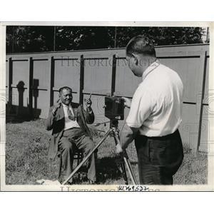 1934 Press Photo Richard Sanderville, Blackfoot Indian, Smithsonian, P. Kellyer