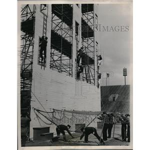 1937 Press Photo National Fire Fighters Tournament, Soldier Field, Chicago