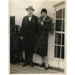 1926 Press Photo George S., Mrs. Dougherty, Former New York Police Commissioner