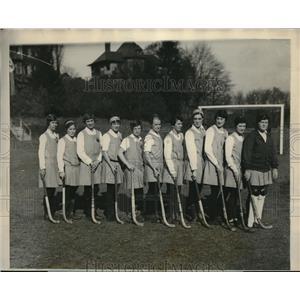 1927 Press Photo All-Philaelphia Women's Field Hockey Team Defeats Bryn Mawr