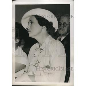 1937 Press Photo Actress Kay Tutweiler at DM Gardner inquest in LA,Calif
